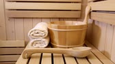 spa and sauna accessories Stock Footage