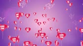 Sweet 3D animation of heart balloons with shape of valentines heart flies against an abstract pink background. This video can be used like greeting card for wedding, valentines day or some intro.