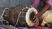 djembe : Drums hands, movement, rhythm. Rishikesh. India. Stock Footage