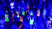 ada : PHANGAN, THAILAND - JANUARY 5, 2015 : Unidentified people participate in the Full Moon party on island Koh Phangan. The event now attracts anywhere from 40,000 party-goers on a normal month