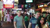 глэм : PATTAYA, THAILAND - NOVEMBER 15, 2014: Walking Street is red-light district with many restaurants, go-go bars and brothels, that draws people, primarily for night life and sexual entertainments