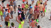 ada : PHANGAN, THAILAND - JANUARY 5, 2015 :Unidentified people participate in the Full Moon party on island Koh Phangan. The event now attracts anywhere from 40,000 party-goers on a normal month