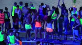 ada : KOH PHANGAN THAILAND MAY 2014: Unidentified people participate in the Full Moon party on island Koh Phangan. The event now attracts anywhere from 40000 partygoers on a normal month