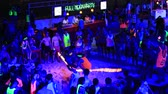 ada : KOH PHANGAN, THAILAND JUNE 03, 2015: Unidentified people participate in the Full Moon party on island Koh Phangan. The event now attracts anywhere from 40,000 party-goers on a normal month
