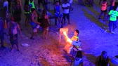 ada : PHANGAN, THAILAND - DECEMBER 7, 2014: Unidentified people participate in the Full Moon party on island Koh Phangan. The event now attracts anywhere from 40,000 party-goers on a normal month Stok Video