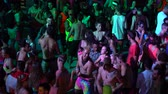 KOH PHANGAN, THAILAND - DECEMBER 22, 2018: Girls, guys dance in full moon party