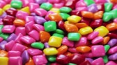 bright colors : chewing gum of different colors. background of chewing gum. VIDEO rotation Stock Footage