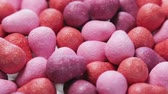 chew : chewing gum of different colors. background of chewing gum. Rotation video Stock Footage