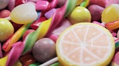 group of children : variety of sweets, lollipops, candy, marshmallows, etc. Dolly video