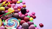 marmelat : variety of sweets, lollipops, candy, marshmallows, etc. Dolly video