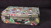 nálepka : suitcase stickers of the flags of the countries from travels around the world. Dolly video