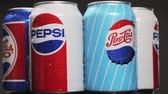 ebilmek : Moscow, Russia-October 25, 2018: carbonated Pepsi drink in different packaging design times. Pepsi non-alcoholic carbonated drink produced by the American company PepsiCo