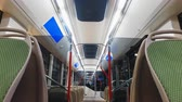 отсек : Moscow, Russia-October 23, 2018: modern and comfortable city electric bus at the exhibition Busworld Russia 2018. The exposition of KAMAZ