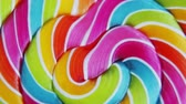 ロリポップ : Background of striped spiral multicolor Lollipop
