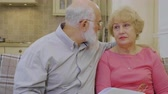 resent : Elderly man calms and makes peace with his wife Stock Footage