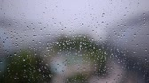 мутный : Steamy window with raindrops