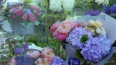 пион : Variety of flowers in flower shop
