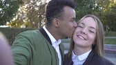 ırklararası : African American and Caucasian couple in love