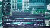 chicago : Time lapse of the Chicago River with traffic and boats