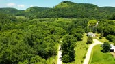 çim : Aerial View Of Mountain Road Through Forest. MN, United States