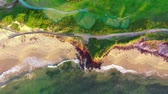 kurs : Aerial View Of Golf Course By The Sea Shore. Australia