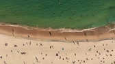 menschenmenge : Aerial Summer View Of People Crowd Having Fun On Beach. NSW, Australia Videos