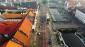 hava : Aerial Footage Of A One Way Street and Traffic In Jakarta