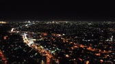 silouhette : View Of Night City With Beautiful Night Lights. Banten. Indonesia Vidéos Libres De Droits