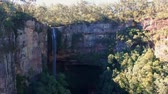 new south wales : Water Flowing Over The Edge Of Australian Waterfall