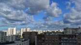 hora de dormir : City landscape of district in Moscow Russia , timelapse