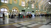 ориентир : MOSCOW, RUSSIA — February 18.2016.  The interior of the Kazansky railway station. Built in 1862.