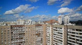 晴れた日 : Cityscape with beautiful sky in Moscow Russia 動画素材