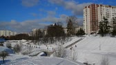 administrativo : Moscow, Russia. general view of Zelenograd administrative district in winter