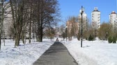 administrativo : City landscape on sunny winter day in Moscow, Russia.
