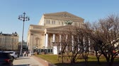 main street : Moscow, Russia-April 20.2018. Bolshoi Theater on Theater Square