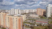 road top view : Moscow, Russia - April 29. 2018. General view of Zelenograd administrative district