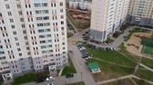 administrativo : Top of courtyard of residential building in Moscow, Russia.