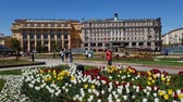 evler : Moscow, Russia - May 12. 2018. Manezhnaya square with Zholtov house and hotel National