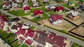 近く : view from above on Modern cottage village near Moscow, Russia