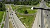 giostre : Top view of road junction in Moscow, Russia