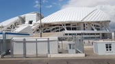 olympic park : Sochi, Russia - June 2. 2018. Football stadium Fisht in Olympic Park Stock Footage