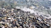 pellets : Fragment of Black Sea coast with a pebble beach