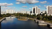 administrativo : artificial pond in Zelenograd in Moscow, Russia