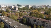 administrativo : Flight over sleeping area of Zelenograd with old and new houses