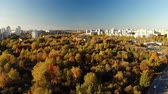 administrativo : dormitory area Zelenograd district of Moscow in autumn, Russia