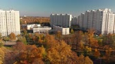 Moscow, Russia - October 17. 2018 Golden autumn in Zelenograd administrative district