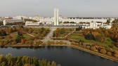 administrativo : pond in Victory Park in autumn in Zelenograd of Moscow, Russia
