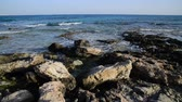 rochoso : Sea near Ayia Napa on island of Cyprus