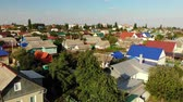 Gryazi, Russia - August 2.2018. typical one-story city in central part of country Stock mozgókép