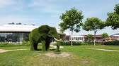 Sochi, Russia - May 31. 2018. Garden sculpture african elephant in Sochi Park Hotel